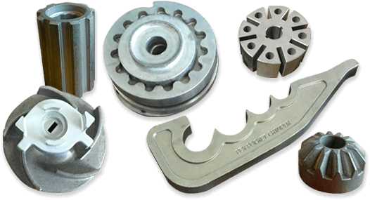 Examples of completed pressed metal parts
